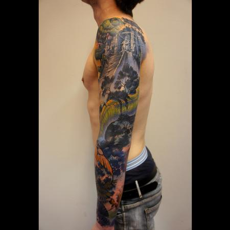 Tattoos - dinosaurs sleeve - 99322