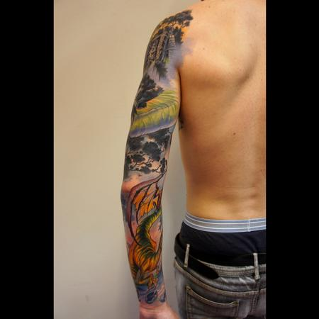 Tattoos - dinosaurs sleeve - 99321