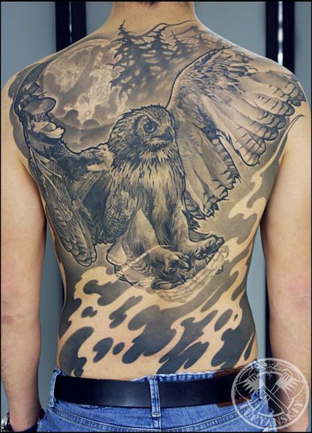 Tattoos - Flying Owl - 100679