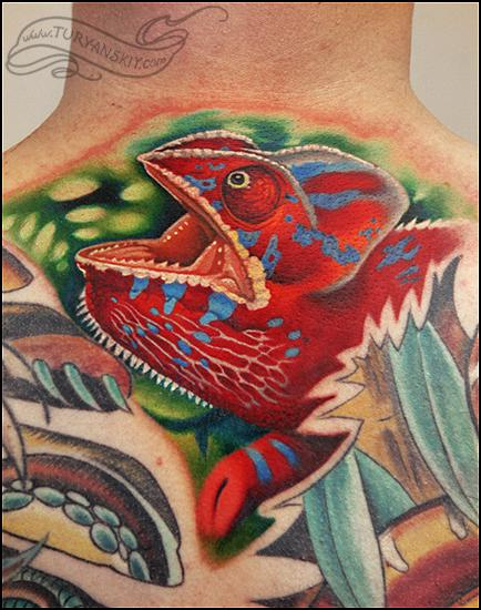 Tattoos - Chameleon - 73081