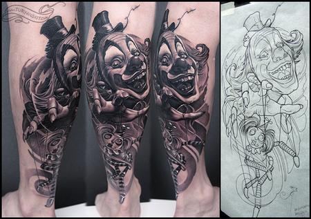 Tattoos - Clown - 69507