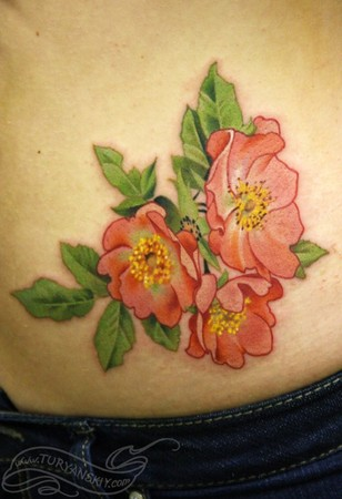 Tattoos - Dogrose flowers - 46880