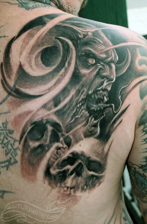 Tattoos - Horned demon - 46854