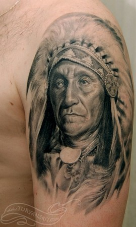 Tattoos - Indian chief - 46878