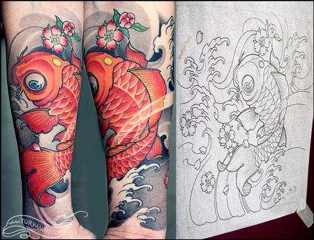 Tattoos - Koi Fish - 74239