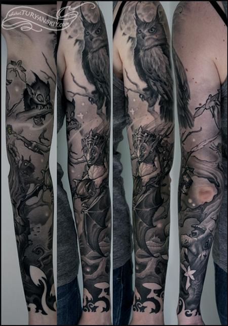 Tattoos - Night Forest - 78801