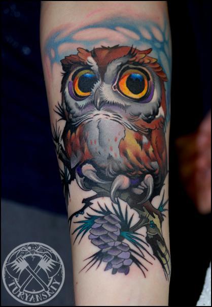 Tattoos - Owl - 80509