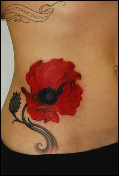Tattoos - Poppy flower - 60474