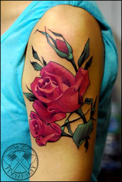Tattoos - Roses - 80508