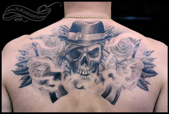 Tattoos - Skull and roses - 51311