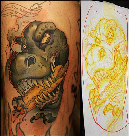 Tattoos - T-rex - 74023