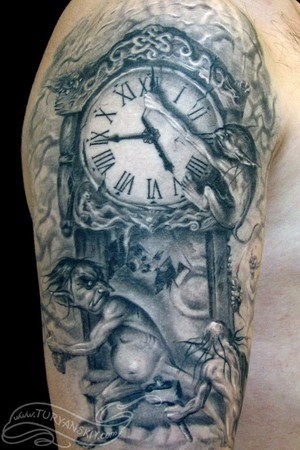 Tattoos - Trolls destroying time  - 46760