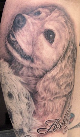 Tattoos - Dog Portrait - 38197