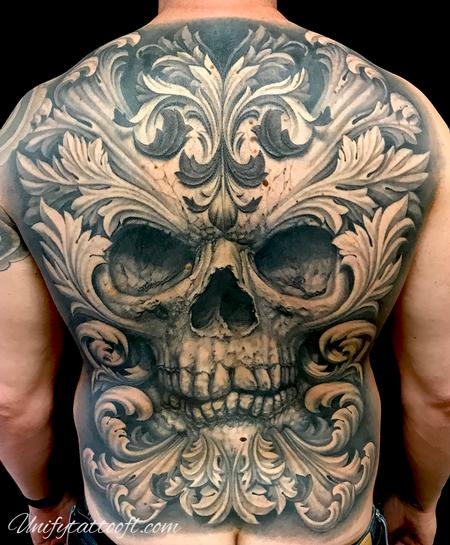 Tattoos - Skull with Filigree - 138110