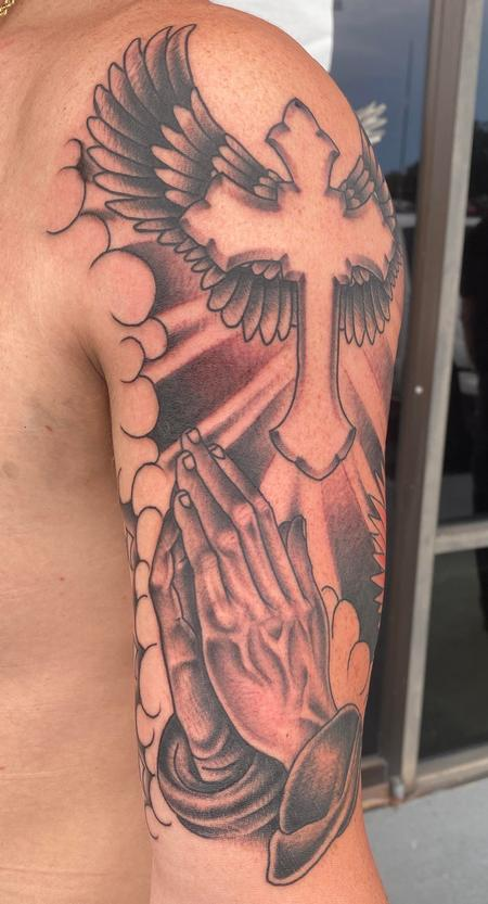 Tattoos - Praying hands - 142262