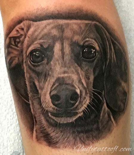 Tattoos - Dachshund Portrait - 138109
