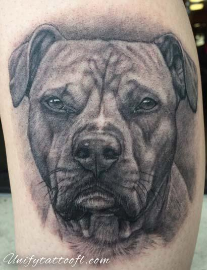 Tattoos - Dog Portrait - 129358