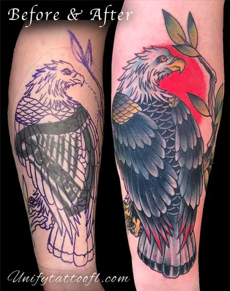 Tattoos - Eagle Cover-up - 129401