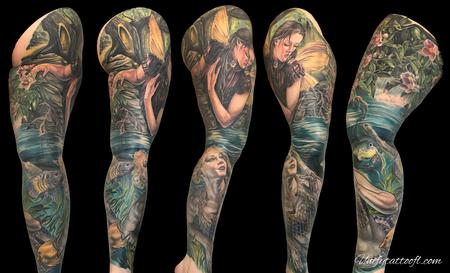 Tattoos - Fairy Mermaid leg sleeve - 138915