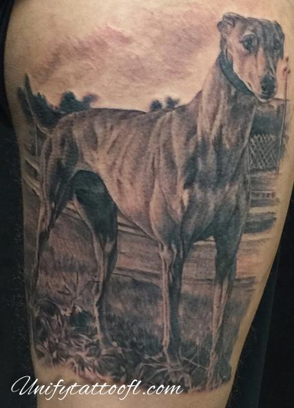Tattoos - Greyhound Tattoo - 120364