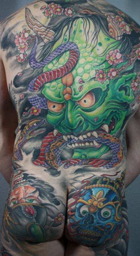 Tattoos - Hannya Mask Japanese Backpiece - 81152