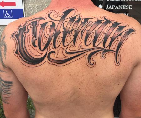 Tattoos - Lettering on shoulders - 139845