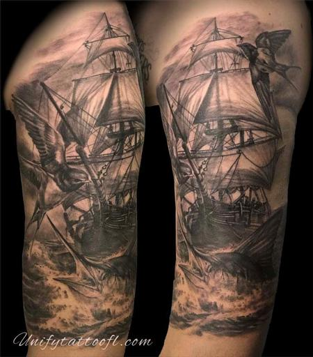 Tattoos - Nautical Tattoo - 129392