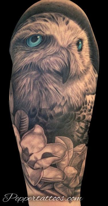 Tattoos - Snowy Owl Tattoo - 103792