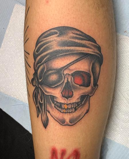 Tattoos - Pirate skull - 142259