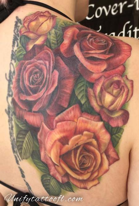 Tattoos - Roses on Shoulderblade - 129365