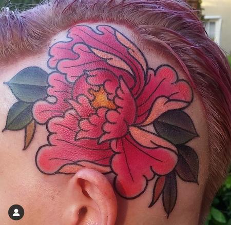 Tattoos - Flower on head - 141610