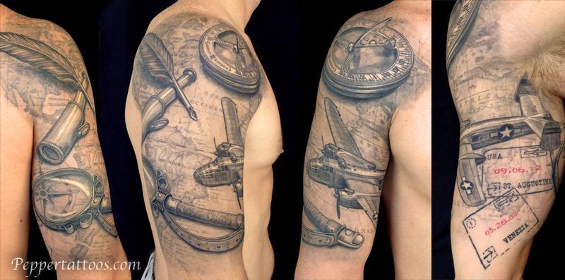 Tattoos - Travel Themed Tattoo - 109070