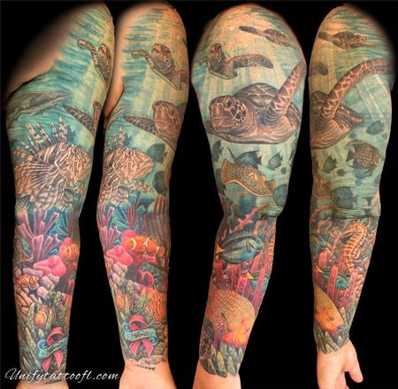 Tattoos - Underwater Sleeve - 129366