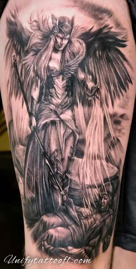 Bart Andrews - Valkyrie and Soldier Tattoo