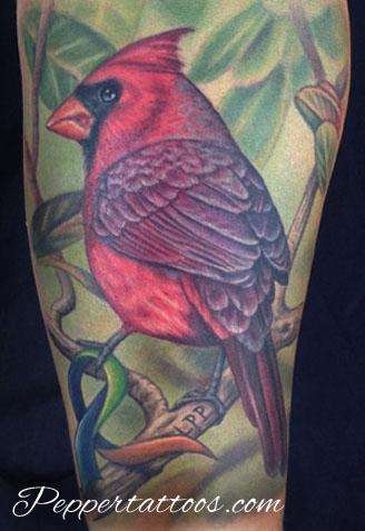 Tattoos - Cardinal Memorial Tattoo - 108827