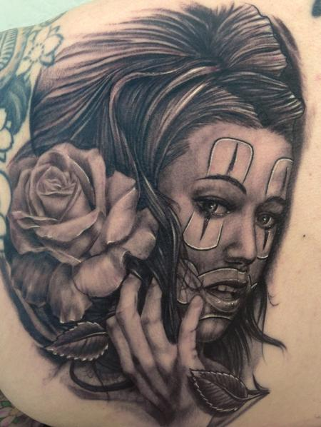 Tattoos - Chola Girl Tattoo - 75943