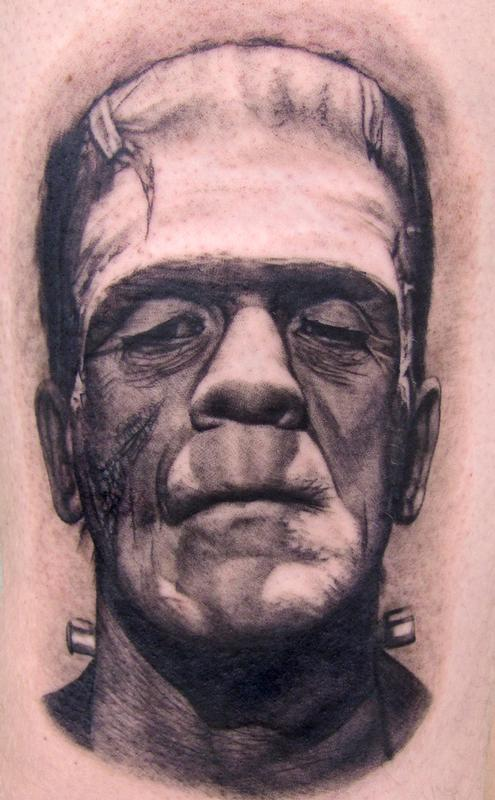 Tattoos - Frankenstein Tattoo - 58006