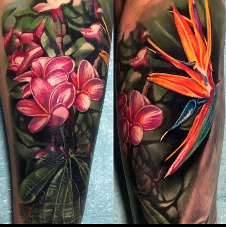 Tattoos - Color Flowers Tattoo - 142818