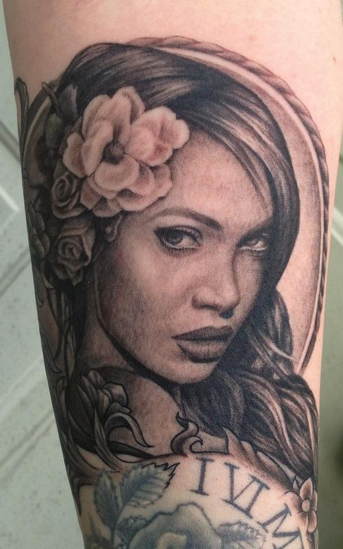 Tattoos - Elegant Portrait piece - 80638