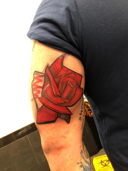 Tattoos - Graphic rose - 139303