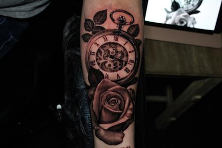 Tattoos - Clock rose - 141719