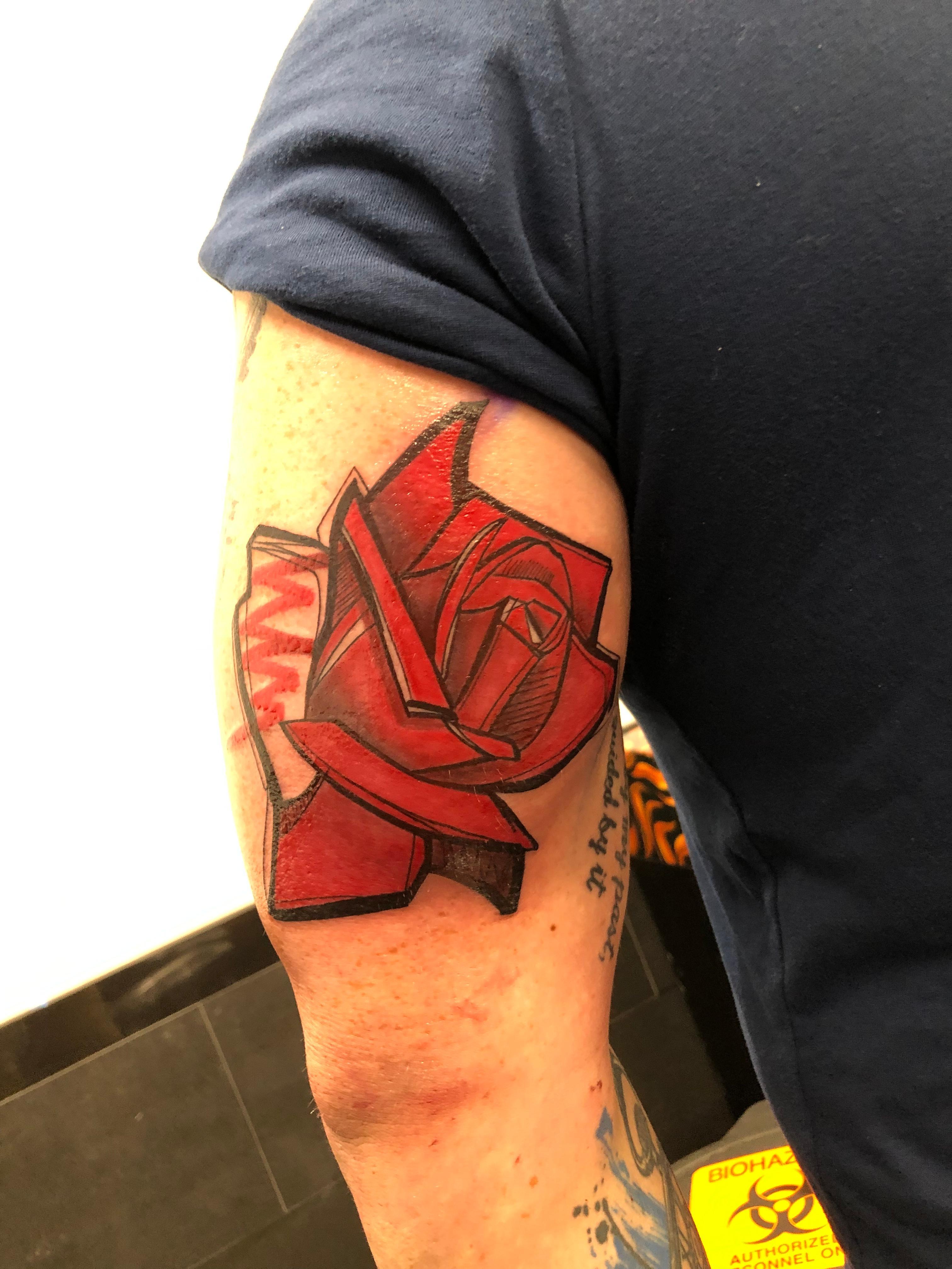Tattoos - Graphic rose - 139303